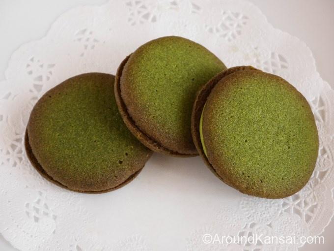 宇治抹茶「天峰」を使ったクリームサンドクッキー