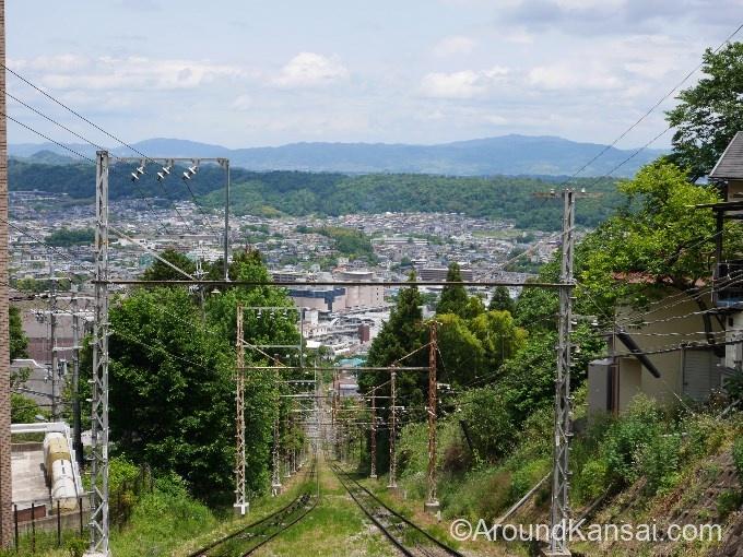 生駒ケーブルカーからの眺め