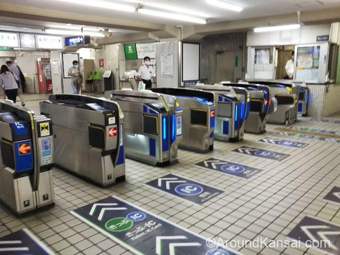 京阪・古川橋駅の改札はひとつです