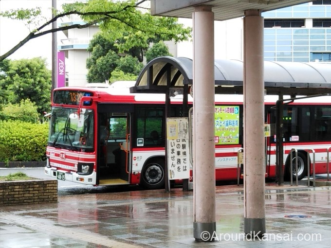 古川橋駅を出るとすぐバス乗り場です