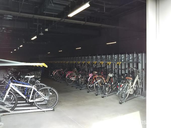 定期利用できる駐輪場はこんな感じ