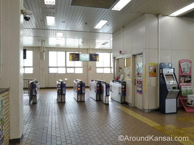 正雀駅の改札はひとつです