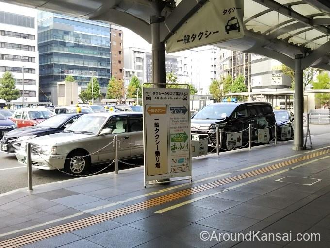 京都駅前のタクシー乗り場