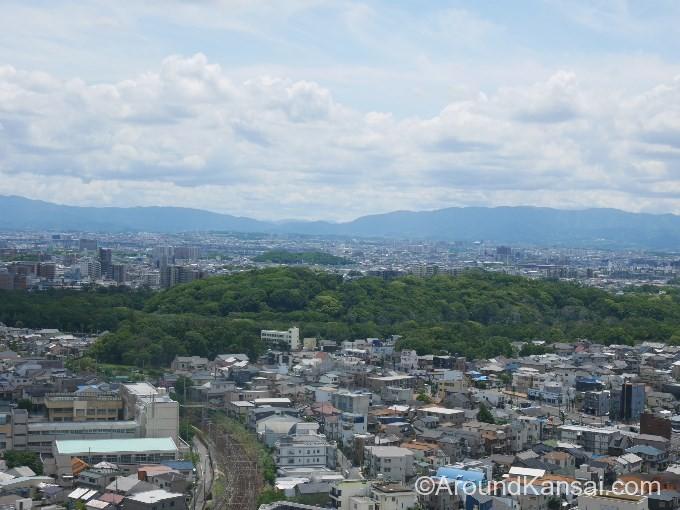 堺市役所 21階展望ロビーから見える仁徳天皇陵