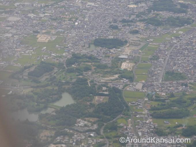 飛行機から見た古市古墳群