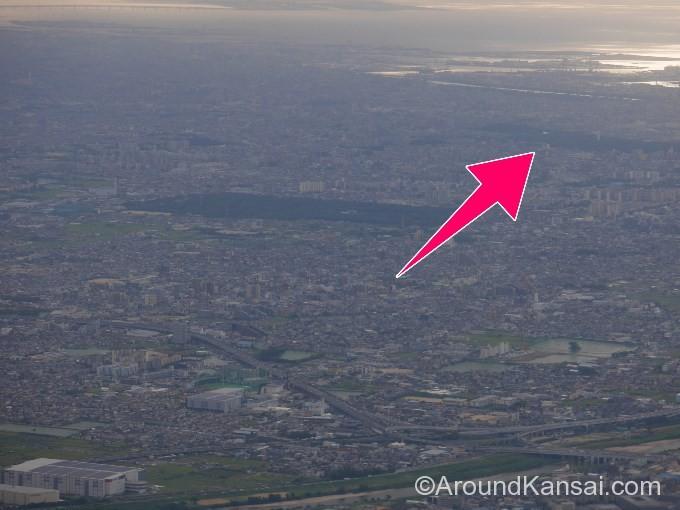 飛行機から見た仁徳天皇陵(大仙古墳)