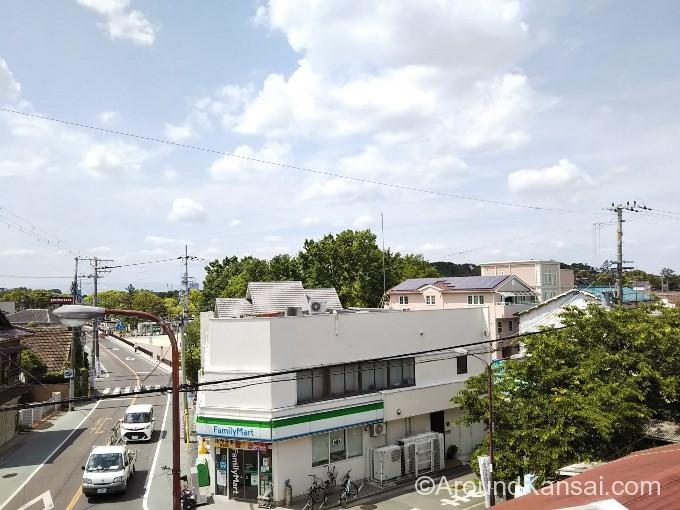 JR百舌鳥駅南側陸橋の上から見る仁徳天皇陵古墳