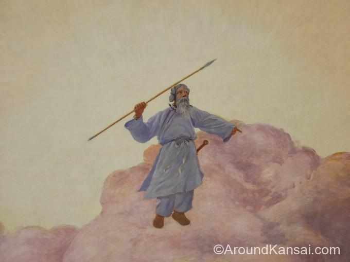 天の瓊矛(あめのぬぼこ)を手にしたアマツカミ