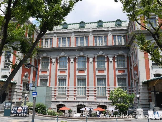 大阪中央公会堂の南面。美しい辰野式が印象的