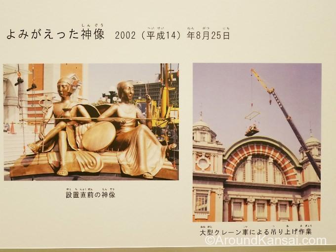 2体の神像はメルキュールとミネルバ