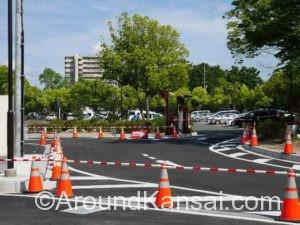 大仙公園 第3駐車場の入口はロータリーになっています