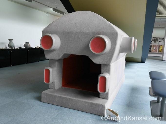 仁徳稜古墳の石棺の模型