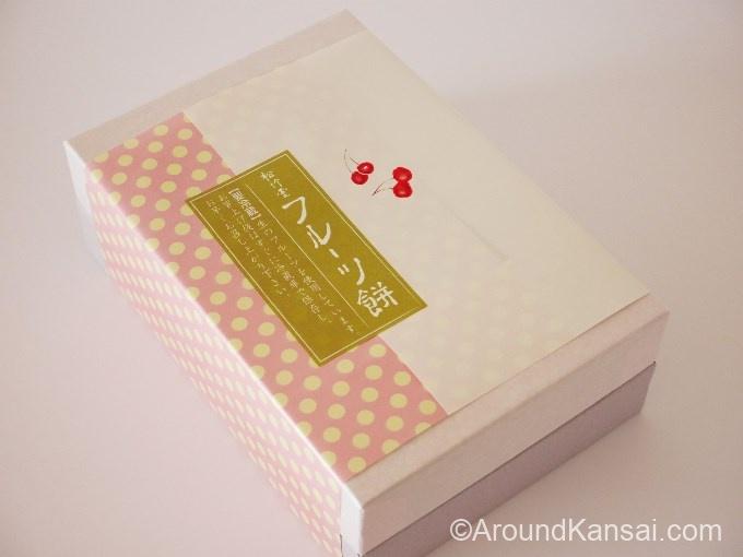 松竹堂のフルーツ餅(6個入り)はこんなパッケージ