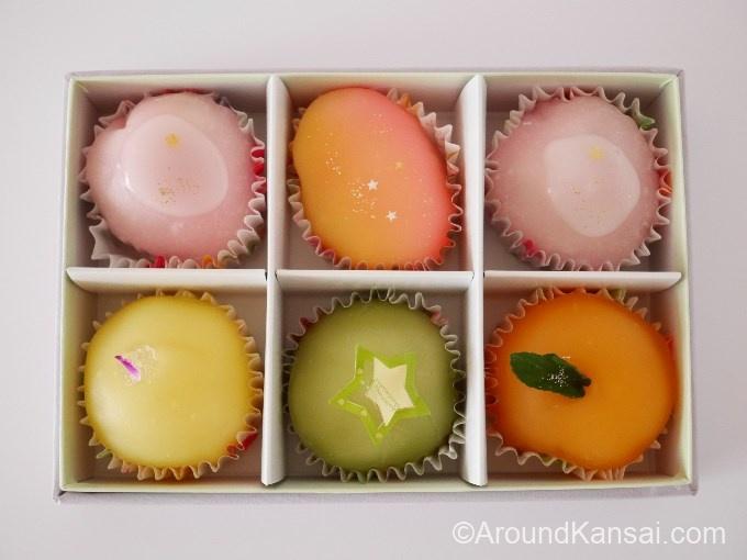 松竹堂のフルーツ餅(6個入り)