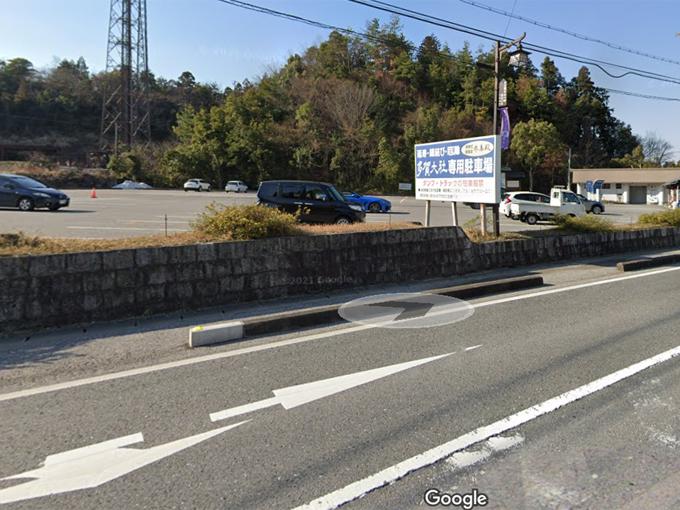 多賀大社 大駐車場(出典:Google)