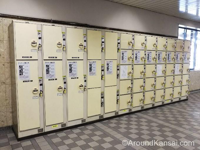 阪急宝塚駅、改札内のコインロッカー