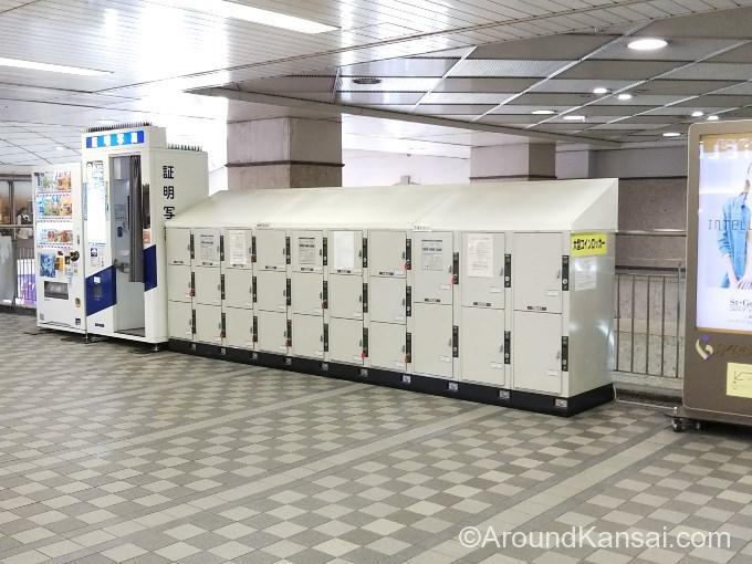 阪急宝塚駅、改札外のコインロッカー