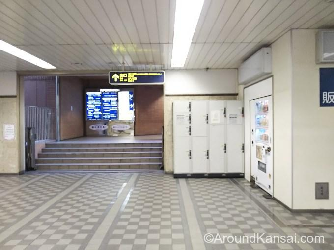 阪急宝塚駅、ソリオ2・ソリオ3方面出口のコインロッカー