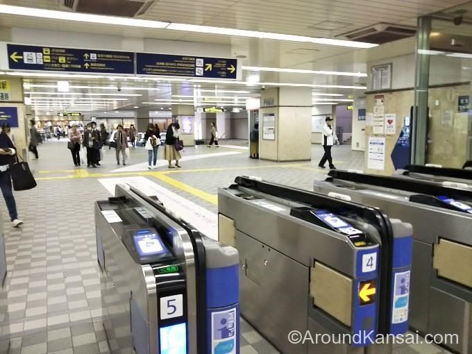 阪急宝塚駅の改札はひとつです