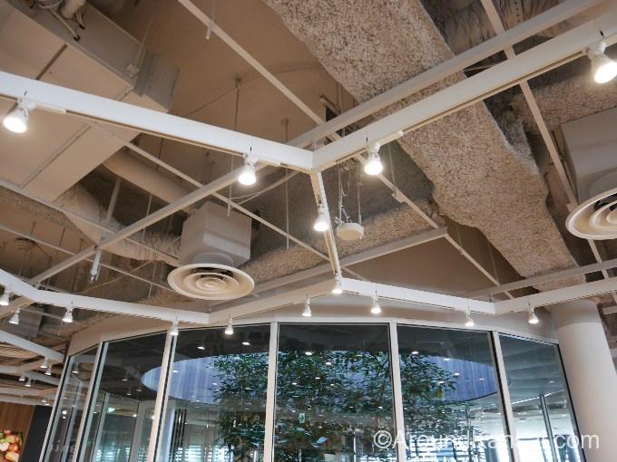 天井にあるハニカムモチーフ